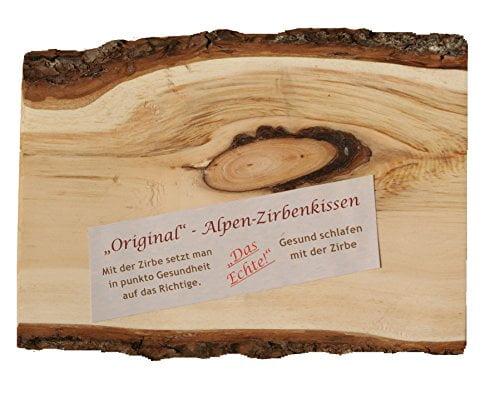 Hersteller-Set: Österreichisches ALPEN-ZIRBENKISSEN einzigartig - Größe 80 cm x 40 cm, inklusive 550g Zirbenflocken (zur Nachfüllung) - 4