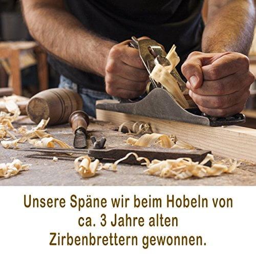 Hilfe bei Schlafstörungen, Wetterfühligkeit und Kopfschmerzen. Zirbenkissen 80 x 40 cm, deutsche Handarbeit, Kopfkissen + GRATIS Außenbezug - 6