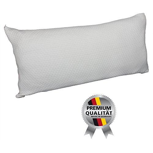 Hilfe bei Schlafstörungen, Wetterfühligkeit und Kopfschmerzen. Zirbenkissen 80 x 40 cm, deutsche Handarbeit, Kopfkissen + GRATIS Außenbezug - 7