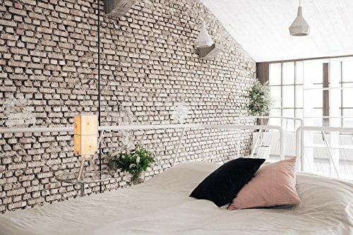 ZirbenLüfter LAMP cube2, LED Stehlampe aus Zirbenholz / Zirbe / Arve, Furnierlampe / LED Höhe: 55 cm -