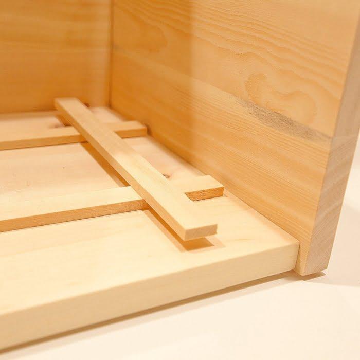 Auflagegitter in Brotbox