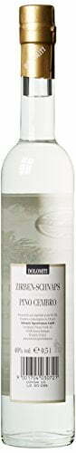 DOLOMITI Zirben-Schnaps Premium Spirituose 40% vol. | Original Zirbenschnaps | 3 x 0.5 Liter - 3