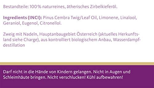 TAOASIS Zirbenöl Bio, 100% naturreines ätherisches Zirbe Öl aus Österreich - 2