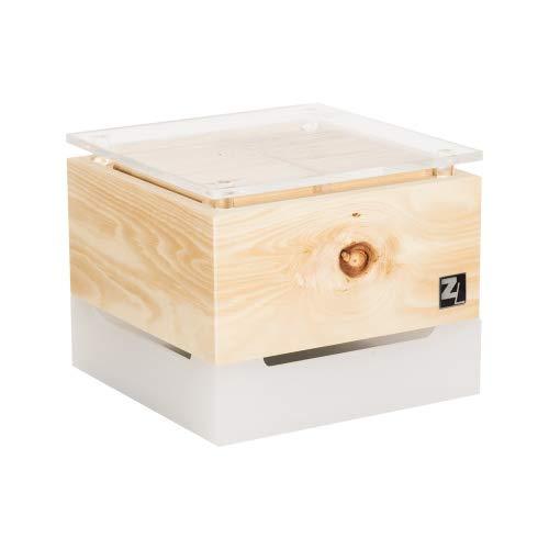ZirbenLüfter ® Cube Mini cristall für 15 m2, natürlicher Luftbefeuchter und Luftreiniger - 1