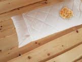 2 Stück (Doppelpack) Premium Zirbenkissen weiß Bezug Bio Baumwolle Steppware + zusätzliches Inlett 40 x 80 cm - 1
