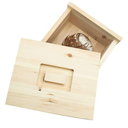 4betterdays.com NATURlich leben! Hochwertige Brotdose aus massivem Zirbenholz - Brotkasten mit abnehmbarem Deckel 30x23x14,5 cm (LxBxH) - Handgemacht in Österreich - 3