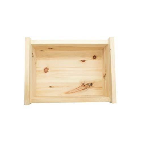 4betterdays.com NATURlich leben! Hochwertige Brotdose aus massivem Zirbenholz - Brotkasten mit abnehmbarem Deckel 30x23x14,5 cm (LxBxH) - Handgemacht in Österreich - 4