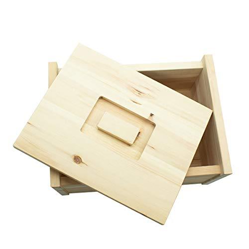 4betterdays.com NATURlich leben! Hochwertige Brotdose aus massivem Zirbenholz - Brotkasten mit abnehmbarem Deckel 30x23x14,5 cm (LxBxH) - Handgemacht in Österreich - 5