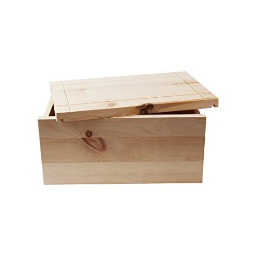 4betterdays.com NATURlich leben! Hochwertige Brotdose aus massivem Zirbenholz - Brotkasten mit abnehmbarem Deckel - 35x25x15,8 cm (LxBxH) - plastikfrei & nachhaltig - Handarbeit aus Österreich - 1