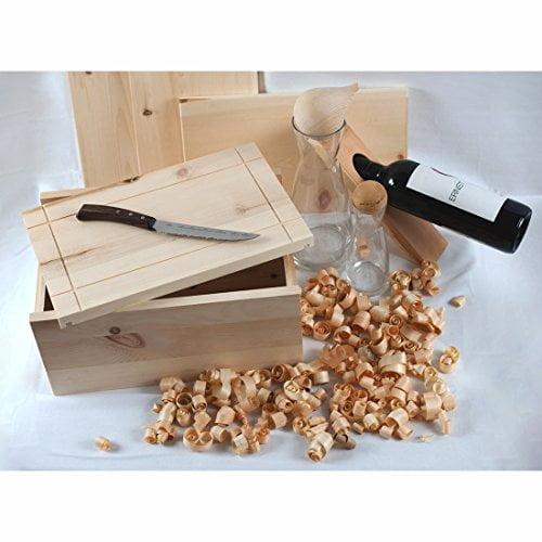 4betterdays.com NATURlich leben! Hochwertige Brotdose aus massivem Zirbenholz - Brotkasten mit abnehmbarem Deckel - 35x25x15,8 cm (LxBxH) - plastikfrei & nachhaltig - Handarbeit aus Österreich - 3