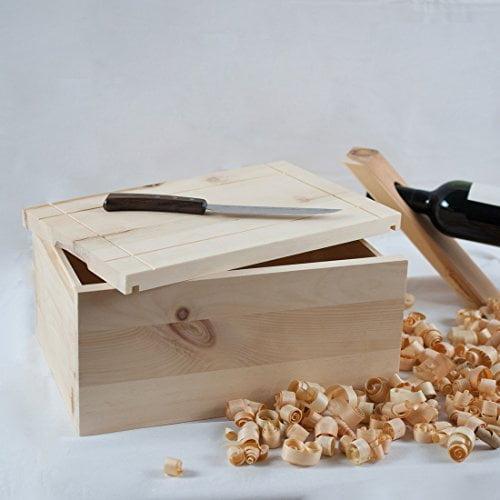 4betterdays.com NATURlich leben! Hochwertige Brotdose aus massivem Zirbenholz - Brotkasten mit abnehmbarem Deckel - 35x25x15,8 cm (LxBxH) - plastikfrei & nachhaltig - Handarbeit aus Österreich - 4