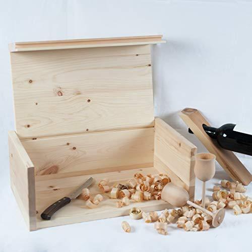 4betterdays.com NATURlich leben! Hochwertige Brotdose aus massivem Zirbenholz - Brotkasten mit aufklappbarem Deckel 42x26x16 cm (LxBxH) - plastikfrei & nachhaltig - Handarbeit aus - 4