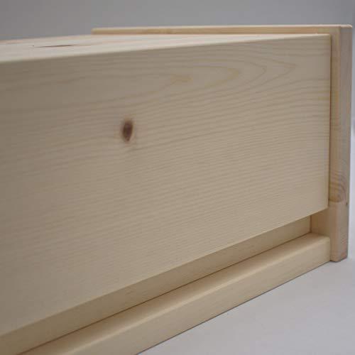 4betterdays.com NATURlich leben! Hochwertige Brotdose aus massivem Zirbenholz - Brotkasten mit aufklappbarem Deckel 42x26x16 cm (LxBxH) - plastikfrei & nachhaltig - Handarbeit aus - 6