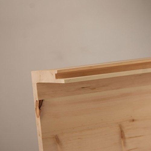 4betterdays.com NATURlich leben! Hochwertige Brotdose aus massivem Zirbenholz - Brotkasten mit aufklappbarem Deckel 42x26x16 cm (LxBxH) - plastikfrei & nachhaltig - Handarbeit aus - 7