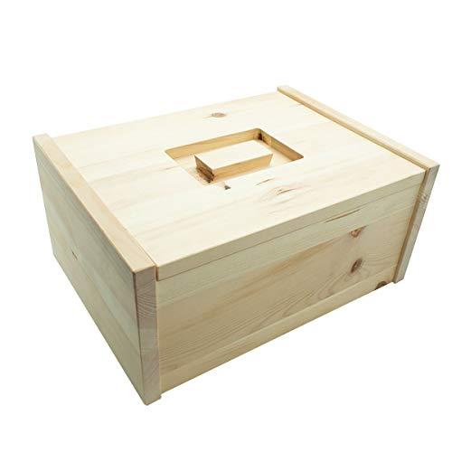 4betterdays.com NATURlich leben! Hochwertige Brotdose aus massivem Zirbenholz - Brotkasten mit abnehmbarem Deckel 30x23x14,5 cm (LxBxH) - Handgemacht in Österreich - 1