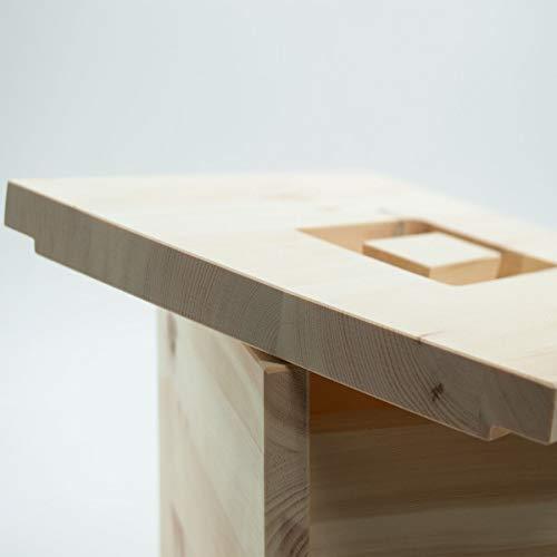 4betterdays.com NATURlich leben! Hochwertige Brotdose aus massivem Zirbenholz - Brotkasten mit abnehmbarem Deckel 30x23x14,5 cm (LxBxH) - Handgemacht in Österreich - 2
