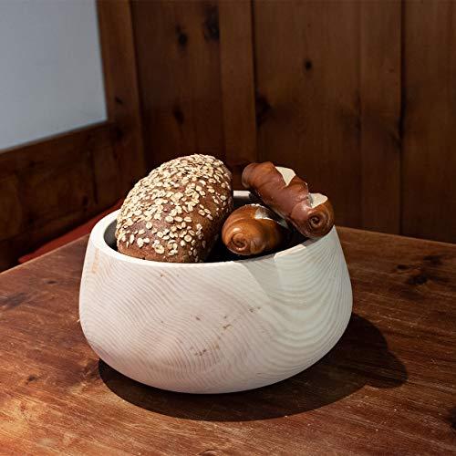 4betterdays.com NATURlich leben! Hochwertiger runder Brotkasten aus massivem Zirbenholz - Brotdose mit abnehmbarem Deckel - in verschiedenen Größen erhältlich 35x35x23 cm (LxBxH) - 4