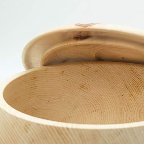 4betterdays.com NATURlich leben! Hochwertiger runder Brotkasten aus massivem Zirbenholz - Brotdose mit abnehmbarem Deckel - in verschiedenen Größen erhältlich 35x35x23 cm (LxBxH) - 8