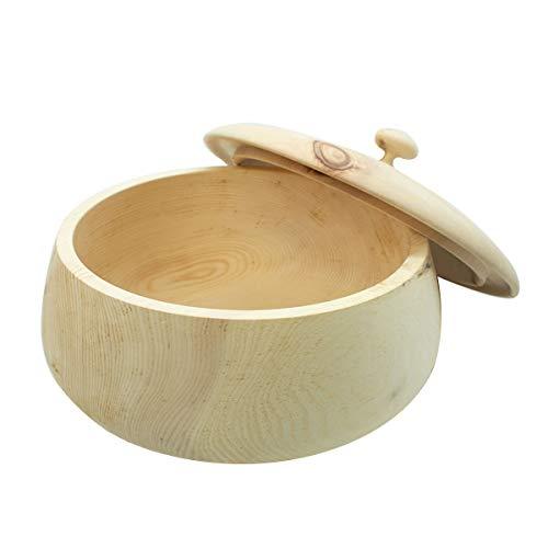4betterdays.com NATURlich leben! Hochwertiger runder Brotkasten aus massivem Zirbenholz - Brotdose mit abnehmbarem Deckel - in verschiedenen Größen erhältlich 35x35x23 cm (LxBxH) - 1