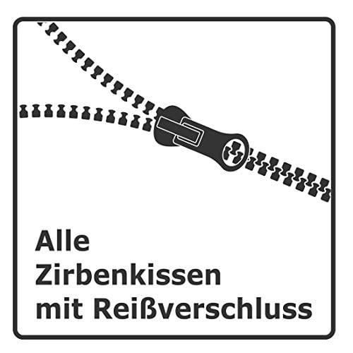 Gesundheitskissen.at Bio Zirbenkissen (22x34cm) + Bio Zirbenöl (10ml) + ZirbenWürfel inkl. 10g Zirbenspäne - 2