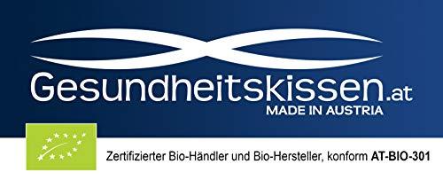 Gesundheitskissen.at Bio Zirbenkissen (22x34cm) + Bio Zirbenöl (10ml) + ZirbenWürfel inkl. 10g Zirbenspäne - 6