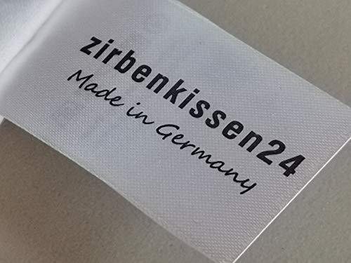 Premium Zirbenkissen Gesundheitskissen Nackenkissen Steppware weiß Bezug 100% Bio Baumwolle 40x80 XXL Füllung NEU - 3