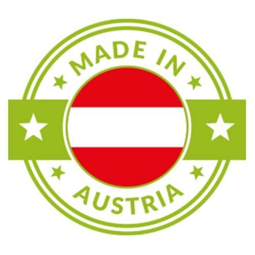 Zirben Brotkasten/Brotdose aus 100% Zirbenholz inkl. Bienenwachstuch - mit herausnehmbarem Zirbenholz-Gitter - Maße: 45 x 16 x 25 cm - Handgemacht in Österreich - 7