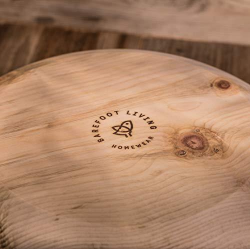 Barefoot Living Brotkorb aus Zirbenholz mit Deckel und 34 cm Durchmesser – Brotkasten zum Aufbewahren von Brot und Brötchen ohne Schimmel - 3