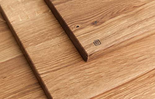 Edeldings XXL Massivholz Schneidebrett aus Eiche   Groß 40 х 30   Küchenbrett Holz aus Europa   Antibakterielles Holzschneidebrett, Servierbrett, Holzbrett, Eichenholz massiv für Küche - 2