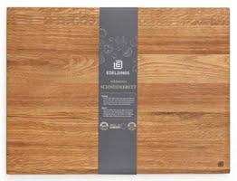Edeldings XXL Massivholz Schneidebrett aus Eiche | Groß 40 х 30 | Küchenbrett Holz aus Europa | Antibakterielles Holzschneidebrett, Servierbrett, Holzbrett, Eichenholz massiv für Küche - 1