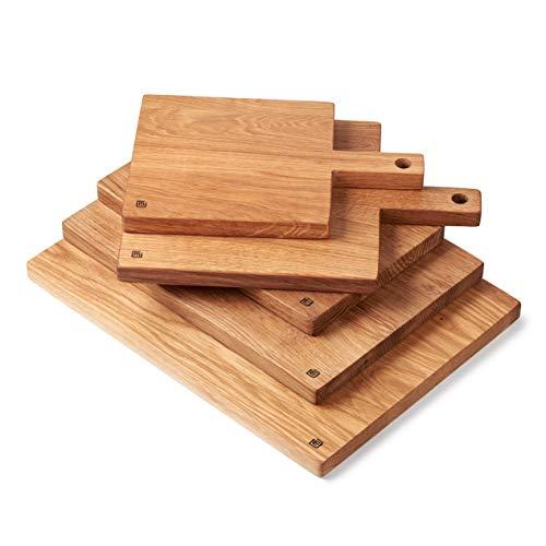 Edeldings XXL Massivholz Schneidebrett aus Eiche   Groß 40 х 30   Küchenbrett Holz aus Europa   Antibakterielles Holzschneidebrett, Servierbrett, Holzbrett, Eichenholz massiv für Küche - 6