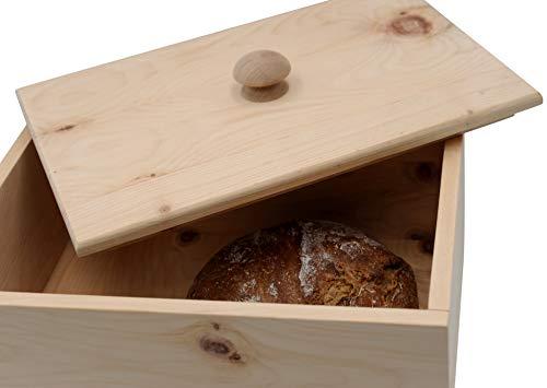 JOWE® Brotdose aus Zirbe | Zirbenbrotdose | Brotkasten aus Zirbenholz | Rechteckig mit Schwalbenschwanzverbindung - 3